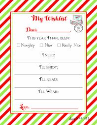 Christmas Wish Sample Christmas Wishlist Printable Letter ⋆ Real Housemoms 1