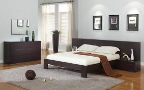 modern wood bedroom furniture. Comfortable Master Bedroom Interior Design With Black Wood Furniture Set And Grey Fur Rug Above Brown Modern D