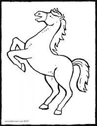 horses colouring pages - Kiddi kleurprenten