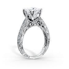 vintage inspired filigree diamond engagement rings by kirk kara