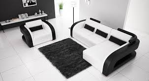 black and white modern furniture. Black White Modern Leather Sectional And Furniture E