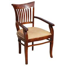solid wood arm chair leather cushion dining furniture wooden dining chairs with arms