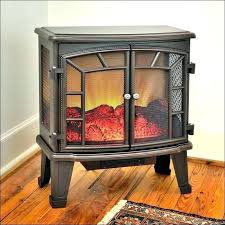 electric fireplace insert in builders vent free with ventless corner