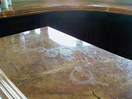marble surface damaged by water spots