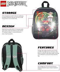 LEGO Ninjago Ninjago Kai Film LED Backpack School Bag Rucksack with Light  Ends Swords: Amazon.de: Sport & Freizeit