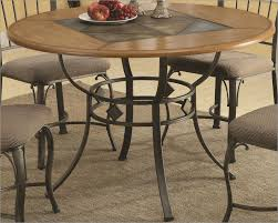 coaster round dining table w metal legs and wood top co including new ideas wood dining table with metal legs