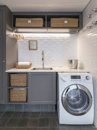 Laundry Room: Beautiful Tiny Laundry Space Decoration - Laundry Rooms