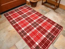 small large red tartan long hall runners kitchen floor rugs anti slip back mats