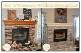 how to whitewash brick fireplace beforeafter