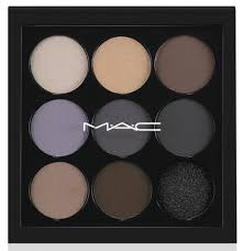 now natural doesn t always mean that you need a warm bronze palette m a c s navy times nine palette es with cool toned lilac browns and blues that ll