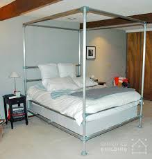 this canopy bed frame was built by dennis as an alternative to a similar version he saw in a ad for nearly 6 000 by building his own