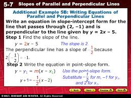 preview warm up california standards lesson presentation ppt 1 5 writing equations of parallel and perpendicular lines