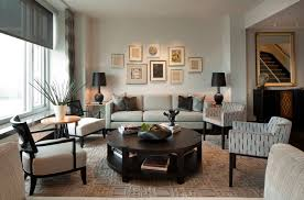 image of modern round coffee table with shelf
