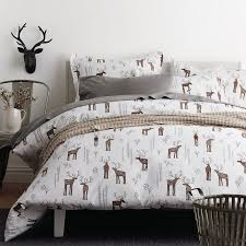 chic inspiration flannel duvet cover oh deer 5 oz the company sham