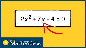 quadraticequations solvequadratics