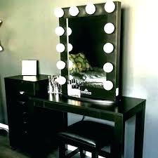 Vanities ~ Modern Bedroom Vanity Set With Lights Sets Black Table ...