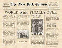Vintage Front Page Newspaper Template Instant Download For Etsy