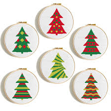 Christmas Tree Cross Stitch Chart Christmas Tree Cross Stitch Pattern Set Merry Christmas Tree