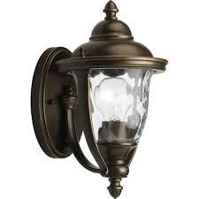 hampton bay prestwick collection 1 light oil rubbed bronze outdoor wall lantern