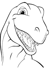 Head Dinosaurs Coloring Picture For Kids Toddler Class