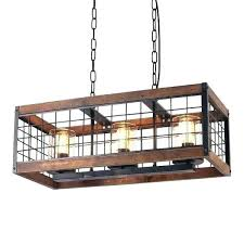 rustic wire chandelier world market black retro 3 light vintage industrial wood circular cage glass cha