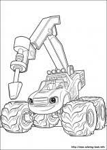 Blaze Coloring Pages Amazing And The Monster Machines On Book Info