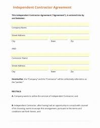 Independent Contractor Agreement Template Magnificent It Contractor Contract Template Luxury Elegant Independent Agreement