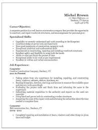 Carpenter Resume Sample. Carpenter Resume Template \u2013 9+ Free ...