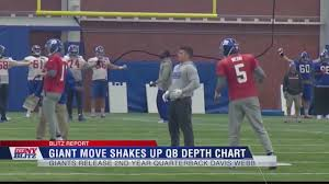 Giants Depth Chart 2018 The Ny Blitz Giant Move Shakes Up Qb Depth Chart