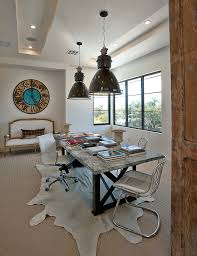 Neutral office decor Inexpensive Austin Industrial Light With Contemporary Office Chairs Home Transitional And Cowhide Rug Pendant Lighting Billielourdorg Austin Industrial Light Home Office Transitional With Wall Decor