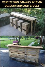 turning pallets into furniture. Improve Your Outdoor Space By Turning Pallets Into An Bar And Stools! Furniture