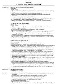 Manager Regulatory Affairs Resume Samples Velvet Jobs