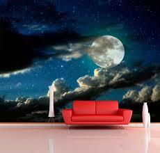 night sky wall decal full moon wall