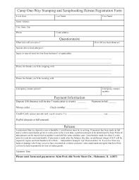 Booking Form Template Free Download. Sample Registration Form ...