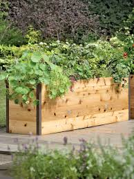 elevated garden bed. Elevated Cedar Raised Bed, Garden Bed O