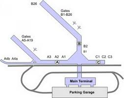 chicago midway airport map  map of chicago midway airport (united