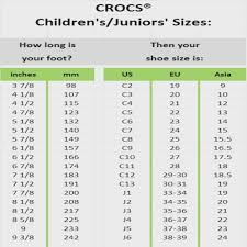 55 Comprehensive Size Chart For Crocs