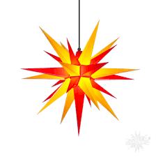 A7 Gelb Und Rot Kunststoff Herrnhuter Stern Für Außen Und Innen