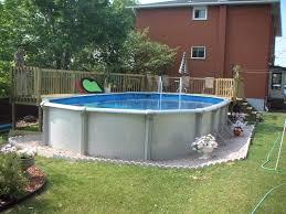 backyard fiberglass above ground pools landscaping ideas to pool for backyard