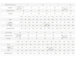 Bridal Dress Size Chart Visittelemark Net