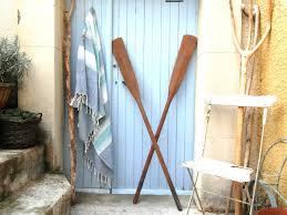 2 long vintage wooden oars wall decor boat paddles canoe paddles wood beach