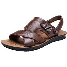 vocni casual leather comfort sandals