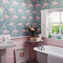 Image Removable Wallpaper As Bathrooms Are Usually One Of The Smallest Rooms They Are The Perfect Place To Try Something Bold And Express Yourself One Wall Of Something Wild Wallpaper Direct Bathroom Wallpapers Wallpaper Direct