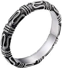Amazon.com: Oakky Men's Stainless Steel Silver Black <b>Retro</b> ...