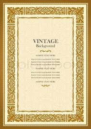 old book cover template vintage gold background antique style frame victorian ornament