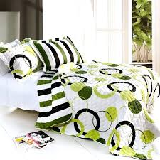 full size of lime green black white teen girl bedding full queen quilt set modern geo