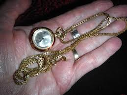 vintage las north star 17 jewel pendant watch on gold filled chain 1758675322