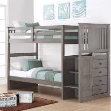 Furniture of America Ridge Adjustable Twin over Twin Bunk Bed with Drawers  | Hayneedle