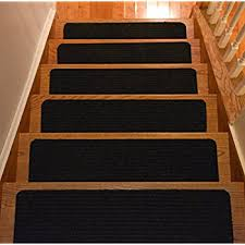 carpet treads. stair treads collection set of 13 indoor skid slip resistant carpet tread black ( m