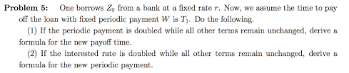 Periodic Payment Formula Solved This Is A Differential Equation Problem Please Us